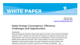 Water-Energy Convergence